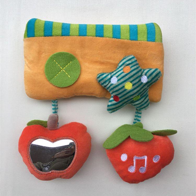 出口婴儿童车挂 音乐响纸摇铃婴儿玩具