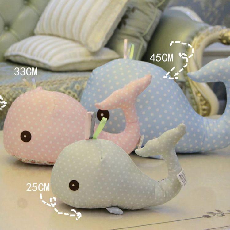 可爱布艺小海豚公仔 多色鲸鱼毛绒玩具儿童礼物 送女友送儿童批发