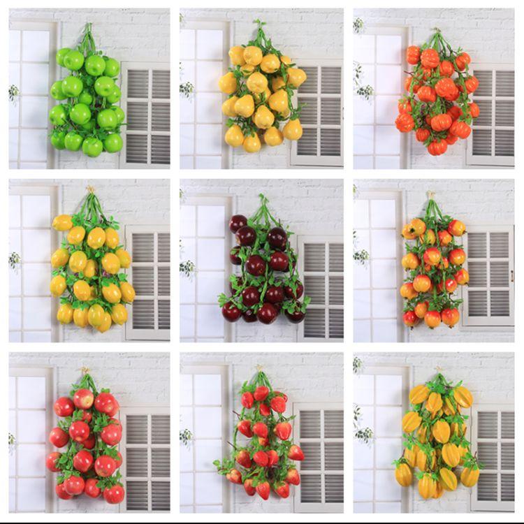 仿真水果串 惠丽 农家乐仿真苹果挂串 假水果藤条装饰