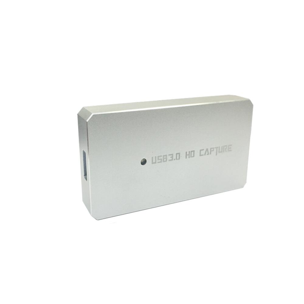 USB3.0免驱HDMI高清视频采集卡直播OBS游戏直播采集盒铝合金外壳