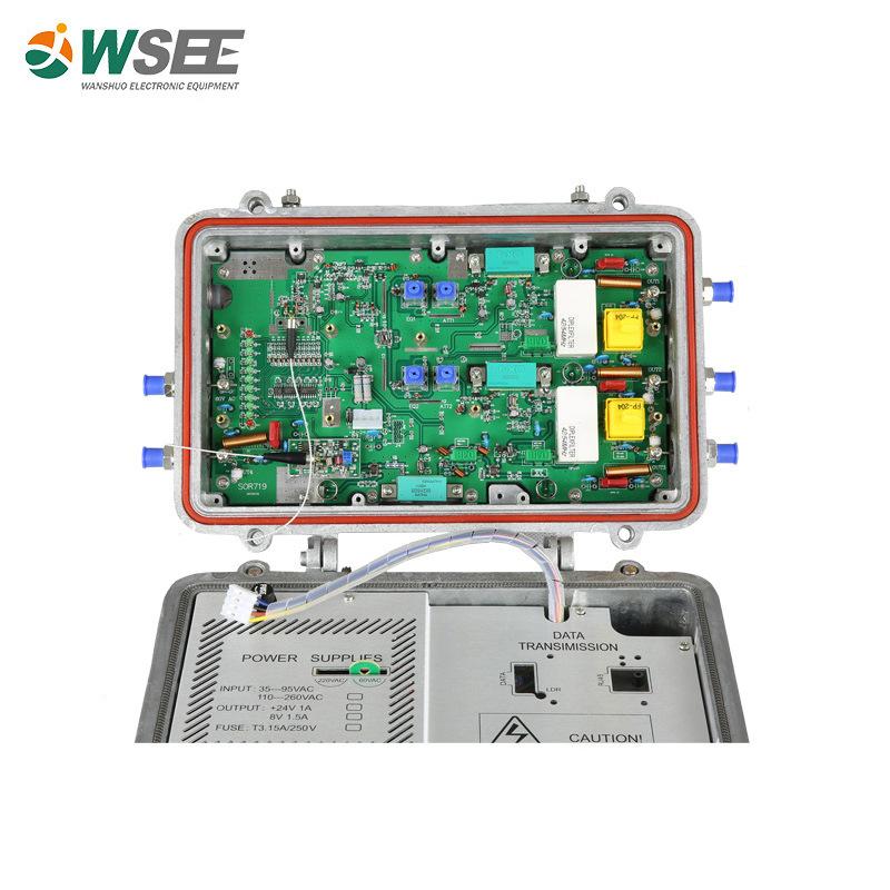 CATV 有线电视光接收机  四路光接收机SOR719 带AGC 可加反向