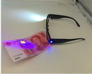 厂家直销夜视带灯老花镜LED带验钞磁疗功能眼镜跑江湖摆地摊爆款