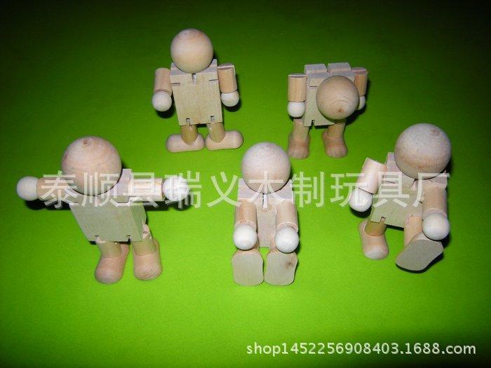 木质机器人 儿童益智玩具 厂家直销支持定做 瑞义