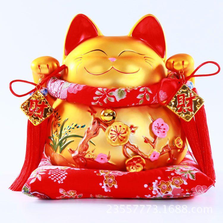招财猫摆件创意礼品家居开业陶瓷猫大号储蓄罐存钱罐工厂直销批发