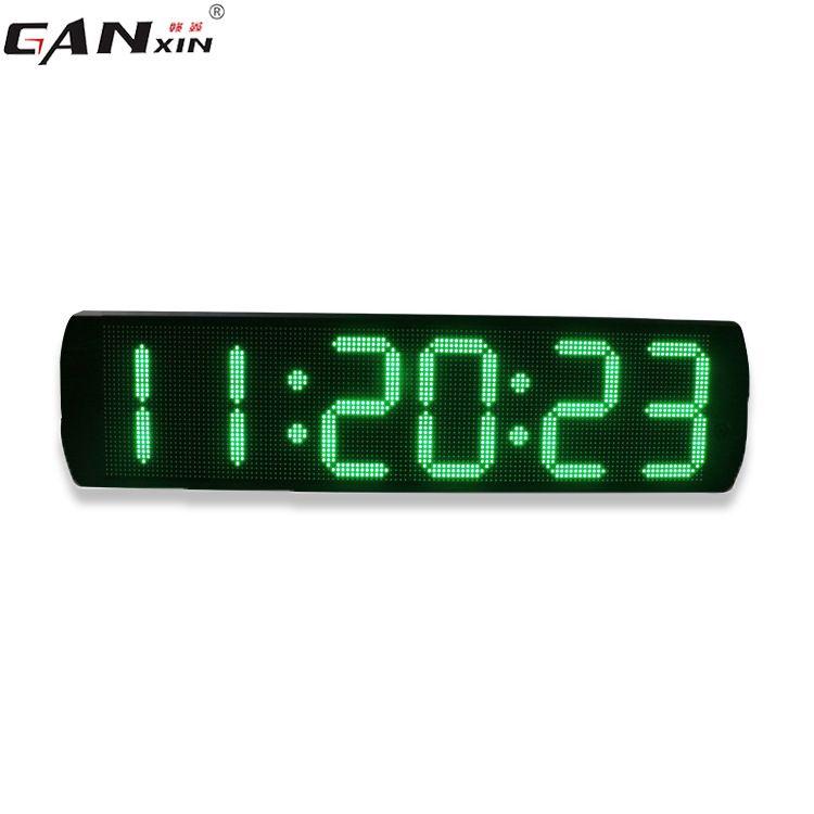 电子计时器静音挂钟 厂家直销杭州赣鑫6英寸6位LED马拉松比赛静音挂钟计时器
