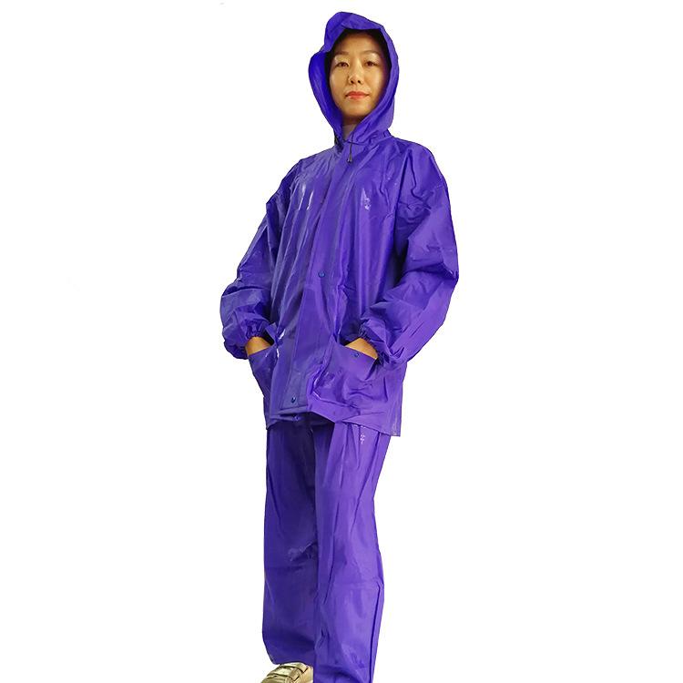 中制 摩托电动车加厚防风防水分体雨衣男女单人雨衣雨裤成人套装