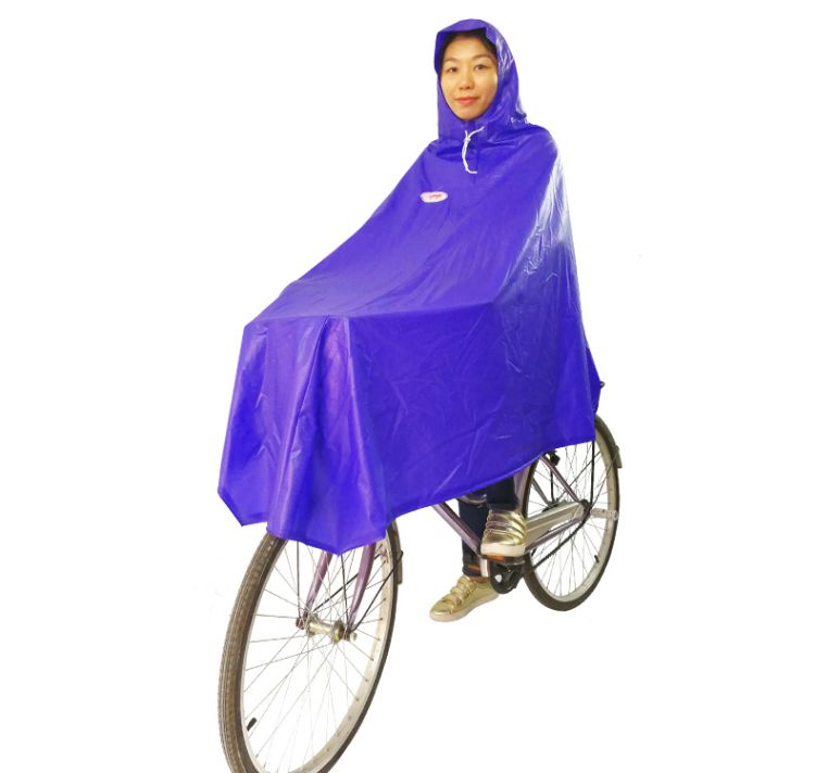 生胶带反光条单人雨衣自行车 加大加厚摩托车雨衣成人户外雨披