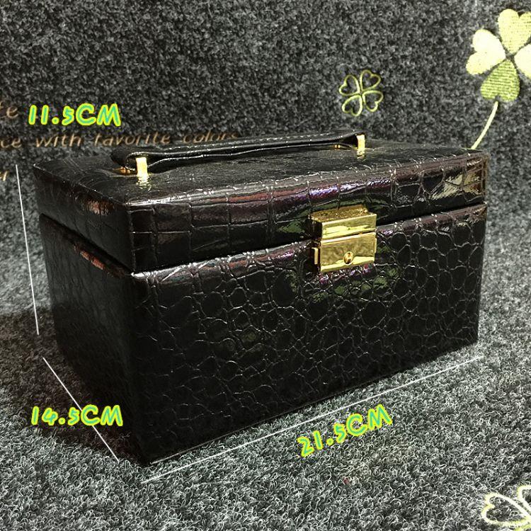 首饰盒欧式木质公主带锁韩式复古收纳盒手饰品盒化妆珠宝盒批发