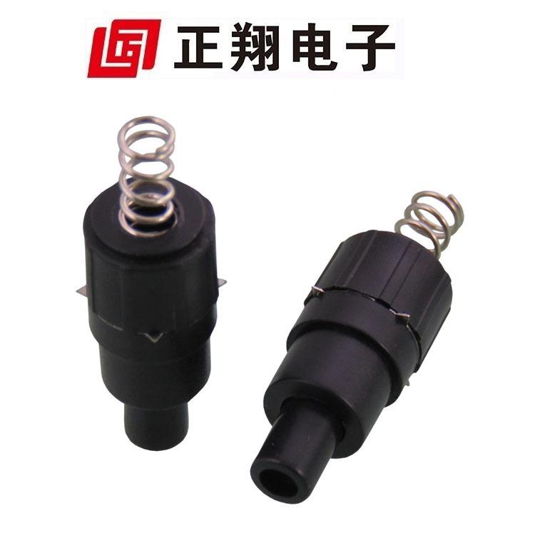 正翔小灯具开关用黑色一开一关按钮开关环保料950-TC耐温 弹簧式
