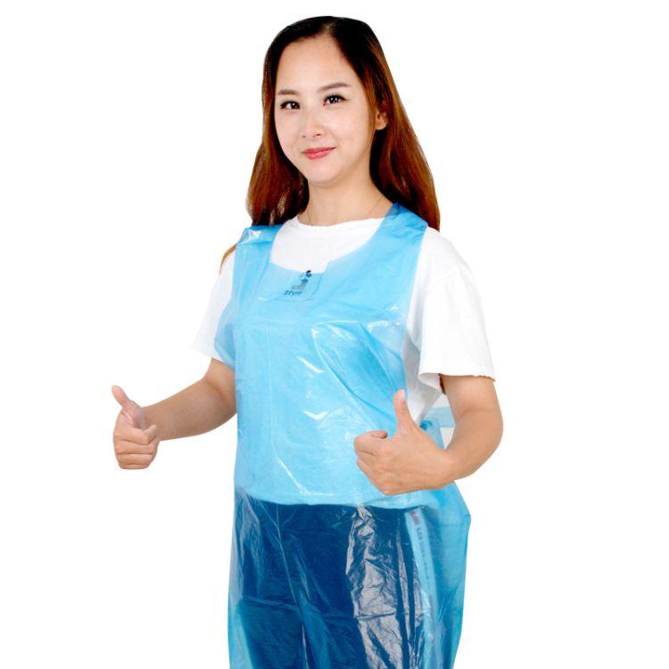 一次性塑料围裙PE无袖防水防油防污厂家生产量大从优