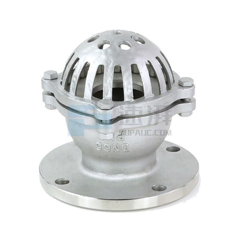 特都安TEDUAN不锈钢法兰底阀吸水底阀水泵底阀单向水阀H42W