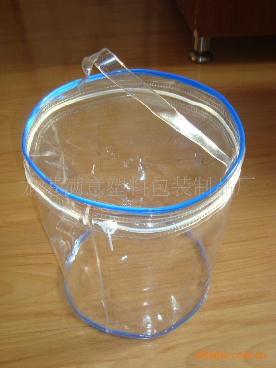 直接工厂加工PVC袋 PVC手提袋子 PVC胶骨袋 PVC束绳袋 塑料电压袋