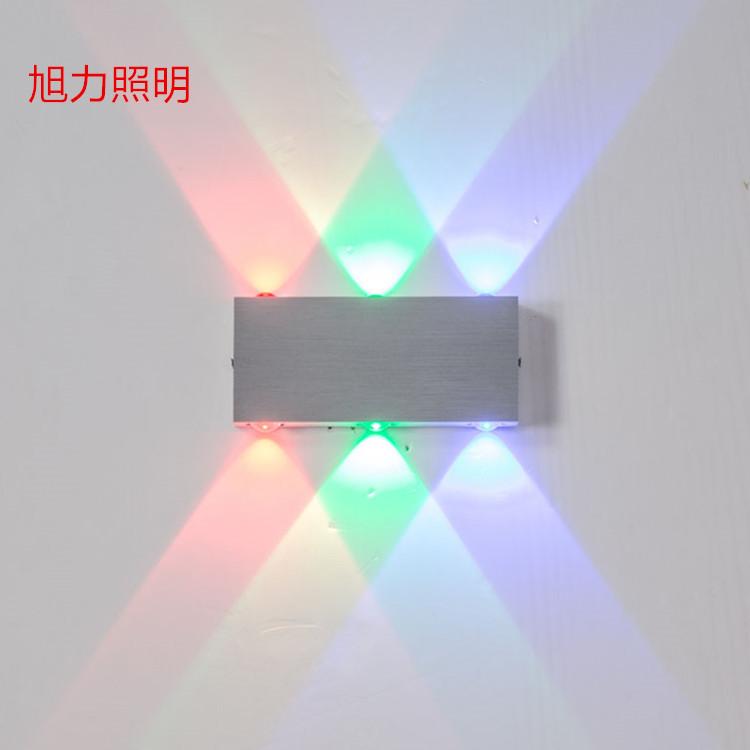 led壁灯现代简约室内玄关铝材壁灯卧室床头灯酒店客厅创意过道灯