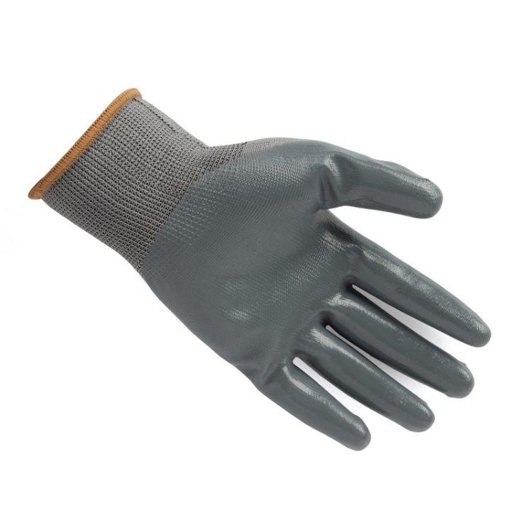 星宇N528 轻巧灵敏柔软舒适优佳的耐磨损性能 尼龙手套 黑纱 黑胶