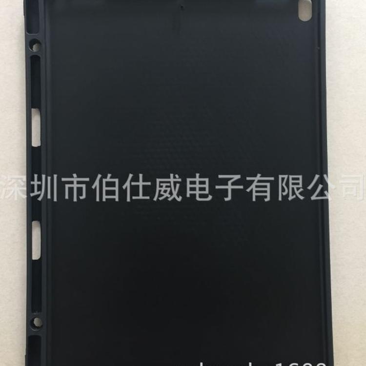 2017  iPad pro 12.9内蜂窝纹外磨砂带笔槽背面凹槽侧翻TPU素材