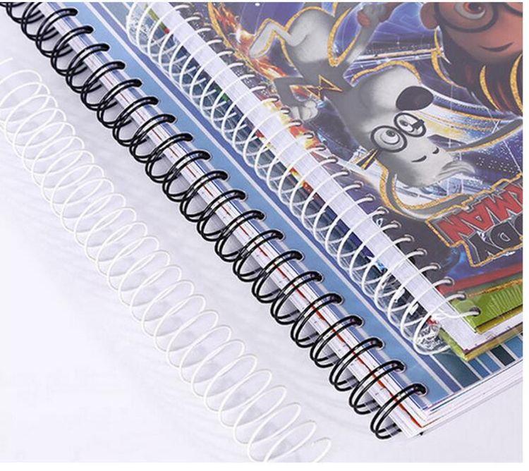 厂家直销笔记本双线圈挂历圈台历圈YO线圈装订铁圈颜色多样