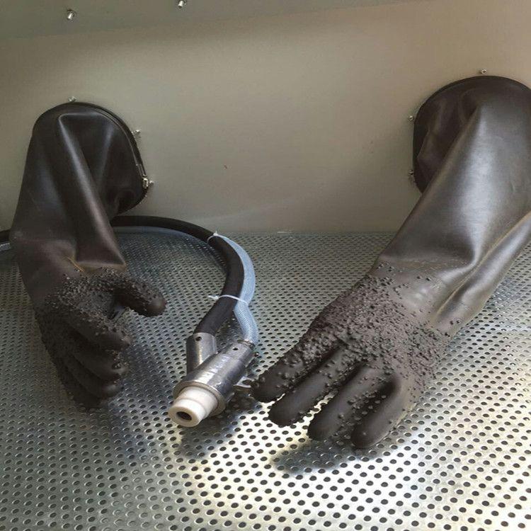 深圳厂家批发防化手套 耐磨防护加厚带颗粒 防滑橡胶喷砂专用手套