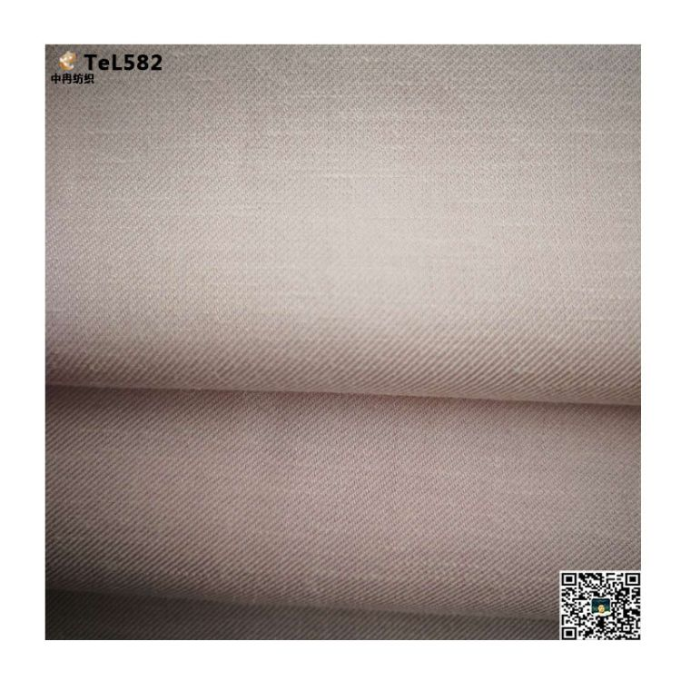斜纹天丝麻面料现货热销,天丝麻斜纹布,薄型天丝麻面料生产厂家