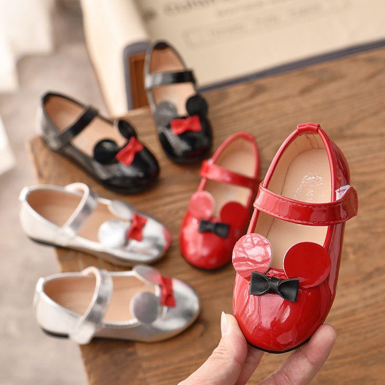 2019春款童鞋女童公主鞋子皮鞋儿童学步单鞋男宝宝卡通公主皮鞋
