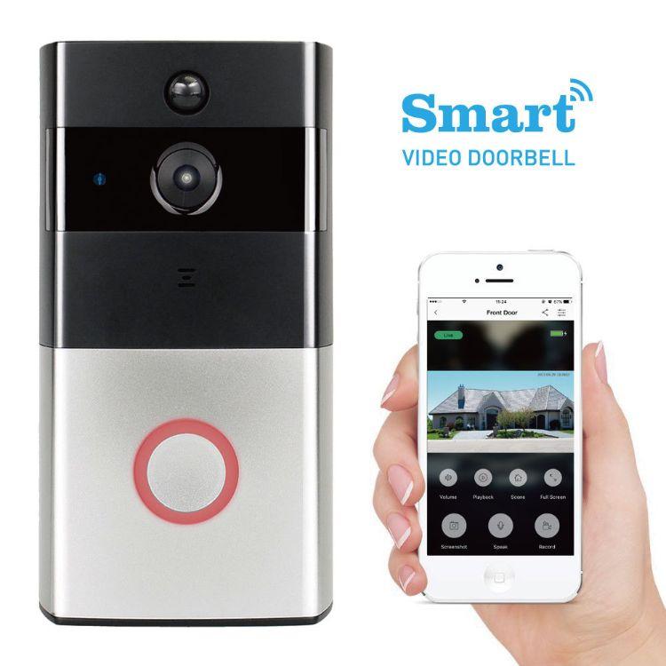 超低功耗家用报警智能wifi可视门铃无线可视对讲门铃手机远程视频