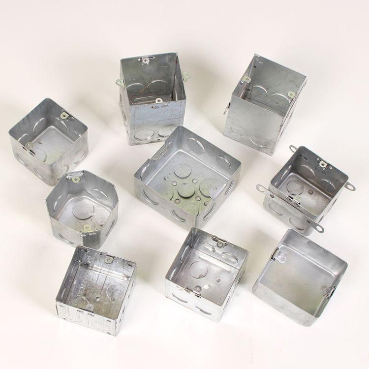 现货金属接线盒 86型方盒 八角线盒 地插盒 人防密闭盒 活底外耳 型号齐全 厂家直销