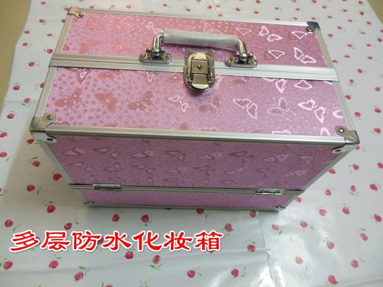 专业多层铝合金化妆箱手提化妆箱跟妆箱美容美发工具箱可定做