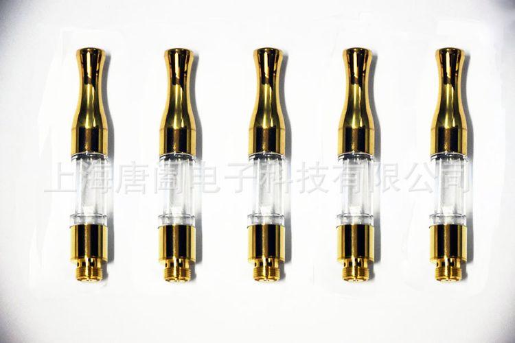 欧美热销电子烟雾化器  G2金色圆嘴雾化器  CBD雾化器通用510接口