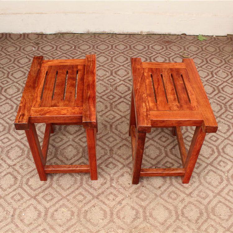 整块奥坎实木条凳 复古板凳奥坎实木餐椅家具凳子厂家直销定制