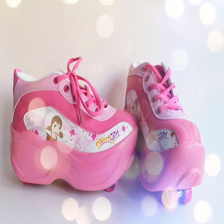畅销款飞行鞋男女自动双轮鞋儿童款滑轮鞋 厂家直销