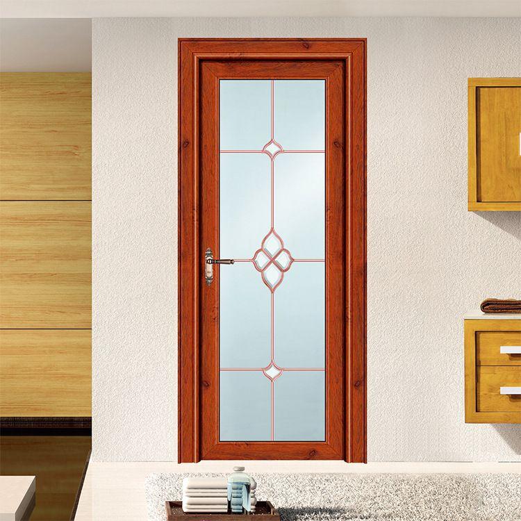 欧式卫生间铝合金门洗手间双层玻璃门 定制批发铝合金平开门工程