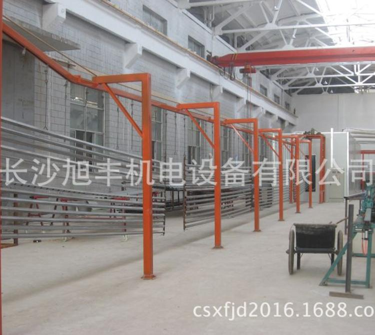 【长沙旭丰】不锈钢粉房回收系统 高速公路护栏 建筑围栏自动喷粉线专业提供