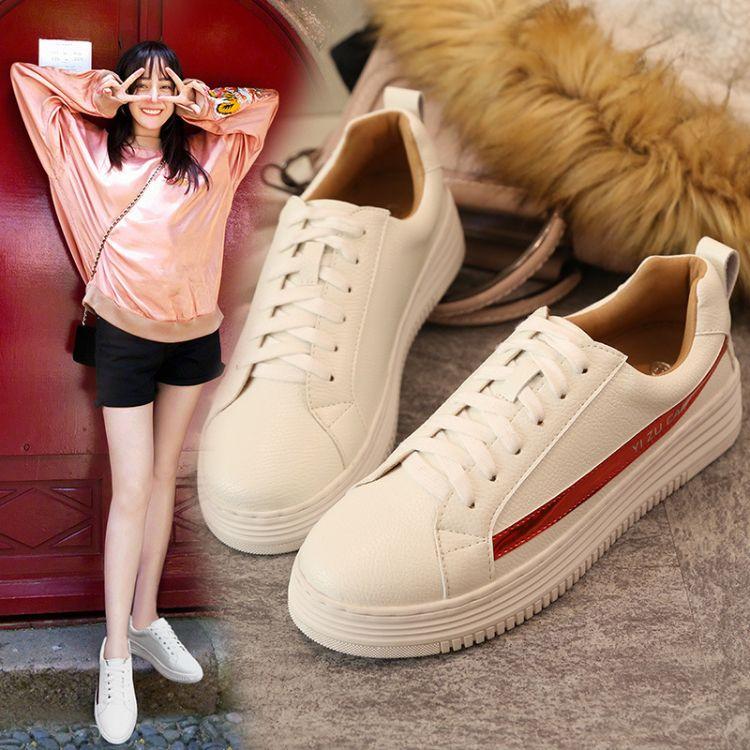 5196-6厚底小白鞋女内增高春季新款百搭韩版休闲学生街拍女板鞋子