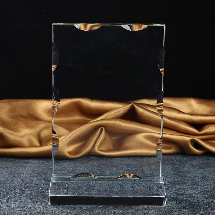 新款水晶奖牌免费刻字 企业颁奖授权牌奖杯定制 工艺品摆件批发