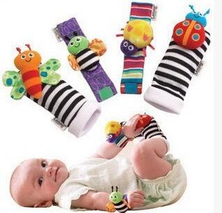 婴儿手表带 手腕带 袜子袜套 婴儿手带摇铃单个价