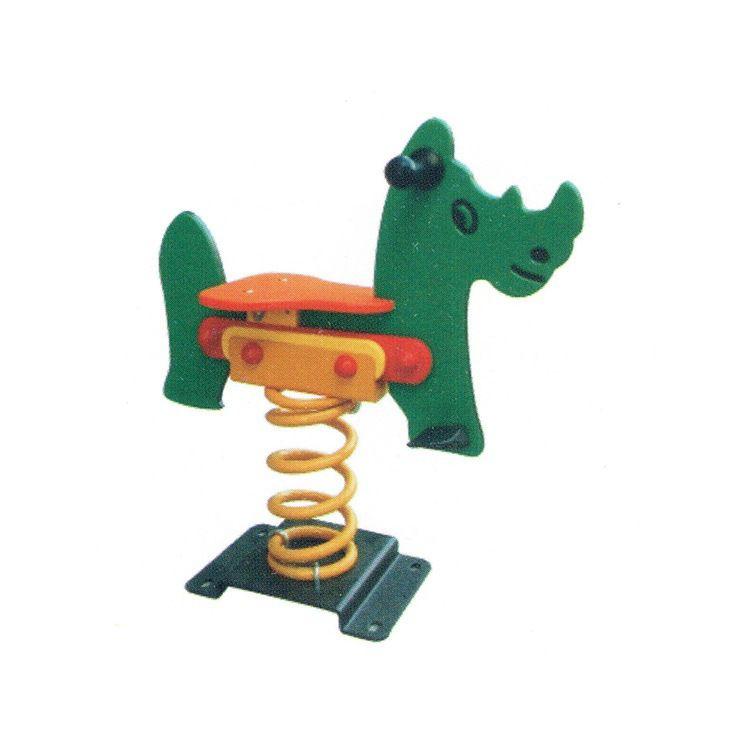 幼儿园儿童户外摇马  公园小区PE板弹簧摇马  儿童摇摇乐PE板定制