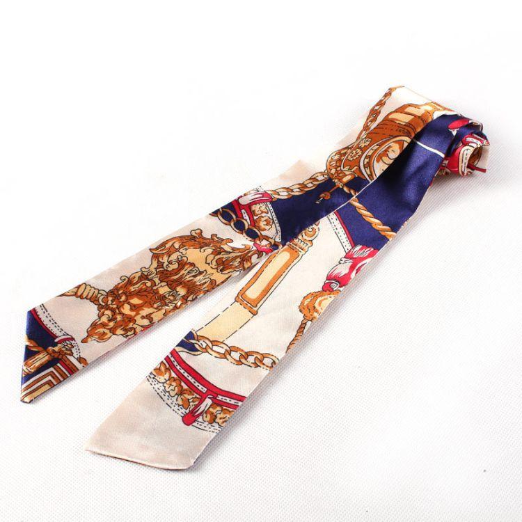 厂家卡包韩版缠包包手提印花丝巾配饰丝巾真皮女包装饰丝巾批发