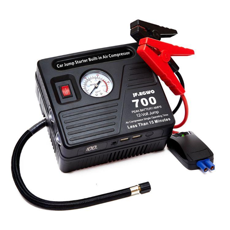 多功能汽车充气/点火一体应急,12V厂家直销汽车应急启动电源