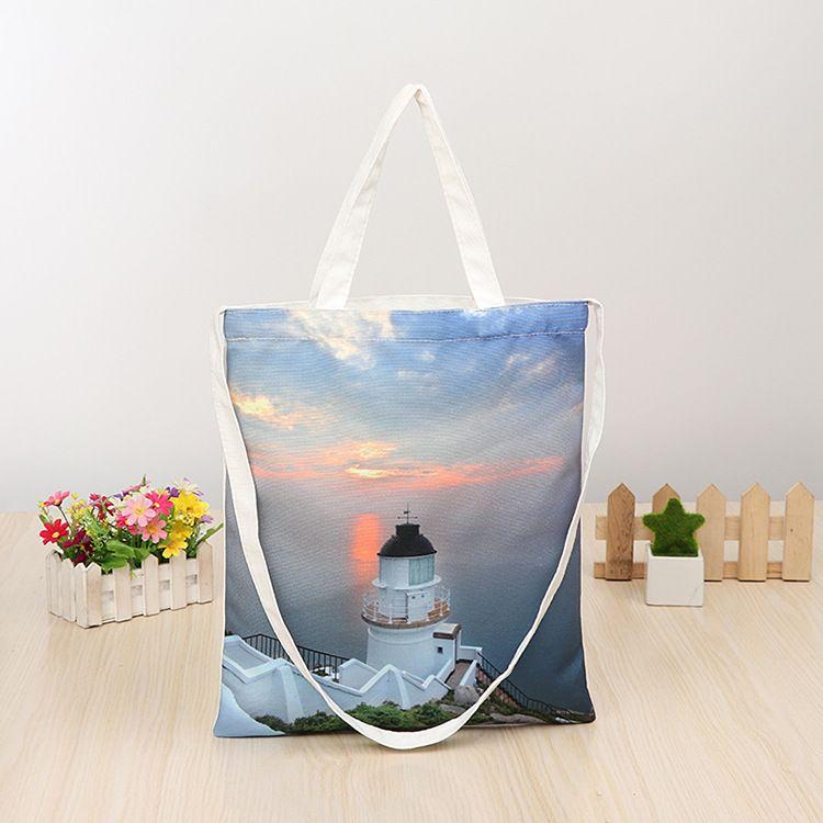 新款纯棉手提帆布袋 女生棉布袋单肩帆布购物袋定做印刷各种图案