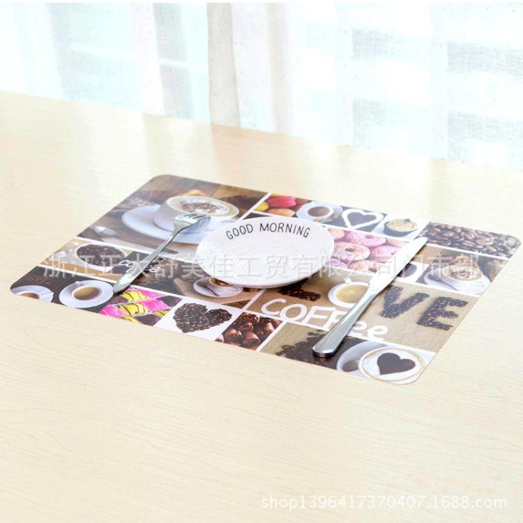 水果蛋糕系列塑料易清洗餐馆酒店餐垫家庭用桌垫杯垫促销赠品垫子