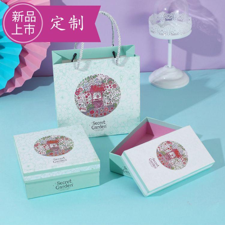 年货天地盖通用包装礼盒手提糖果盒收纳盒食品盒礼盒包装加工定制