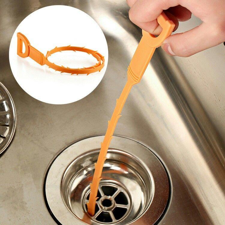 头发清洁器 塑料毛发清理器 下水道管道疏通器 防堵清洁钩