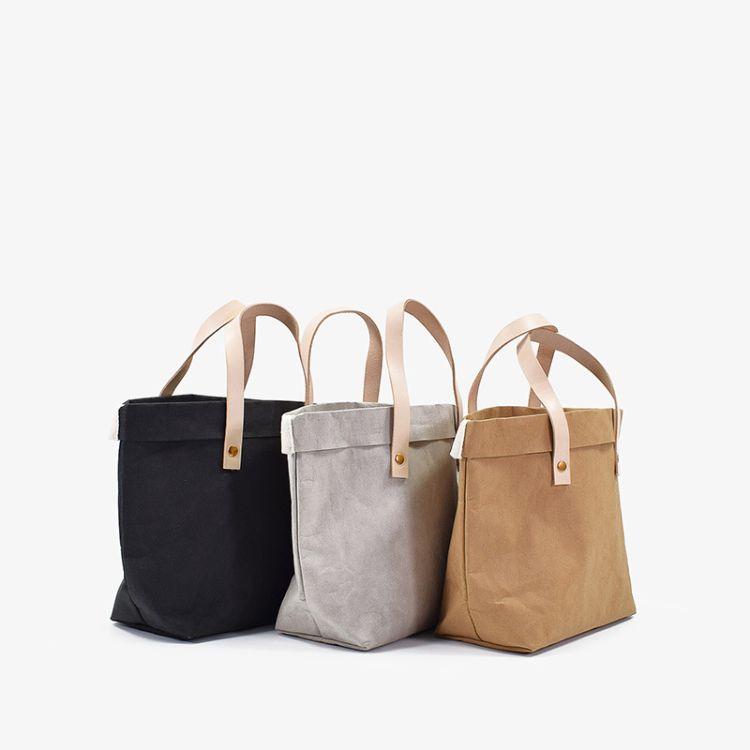 厂家直供跨境原创撕不烂水洗牛皮纸午餐包便当袋简约手提包购物袋
