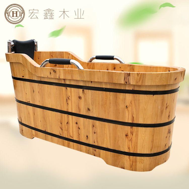 香柏木沐浴桶 桑拿熏蒸泡澡实木桶 成人带盖家用洗澡盆浴缸批发