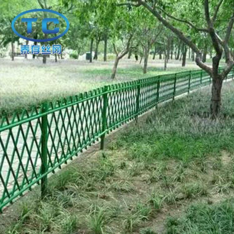 现货供应绿色仿竹篱笆护栏 景观园艺竹节护栏 旅游景区园林围栏