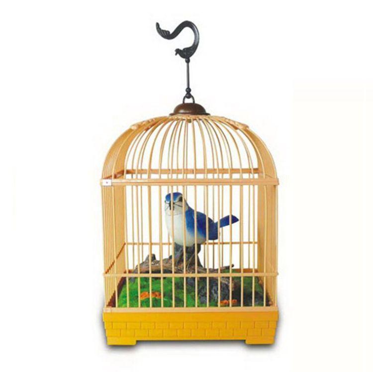 厂家直销西骑士仿真声控方形鸟笼508声控鸟 电动声控玩具批发