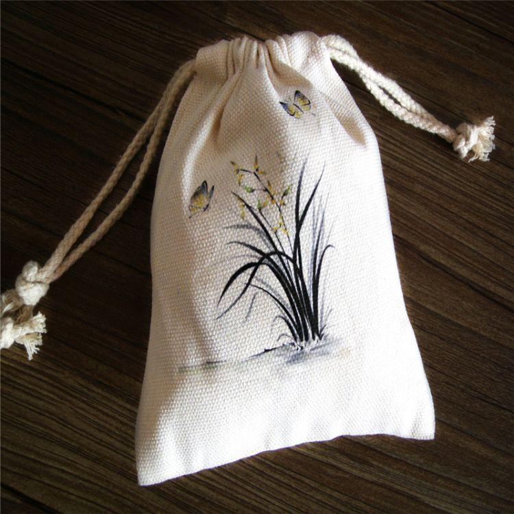 厂家直销 小棉抽绳布束口袋 棉布袋定做