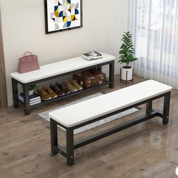 厂家批发餐厅家具铁艺椅 卧室长凳餐厅客厅长座椅鞋凳鞋柜长凳