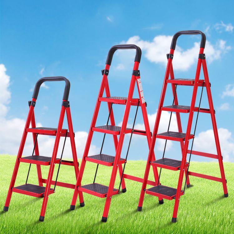 礼品公司定制梯子家用折叠梯子加厚加粗人字梯多功能折叠梯批发