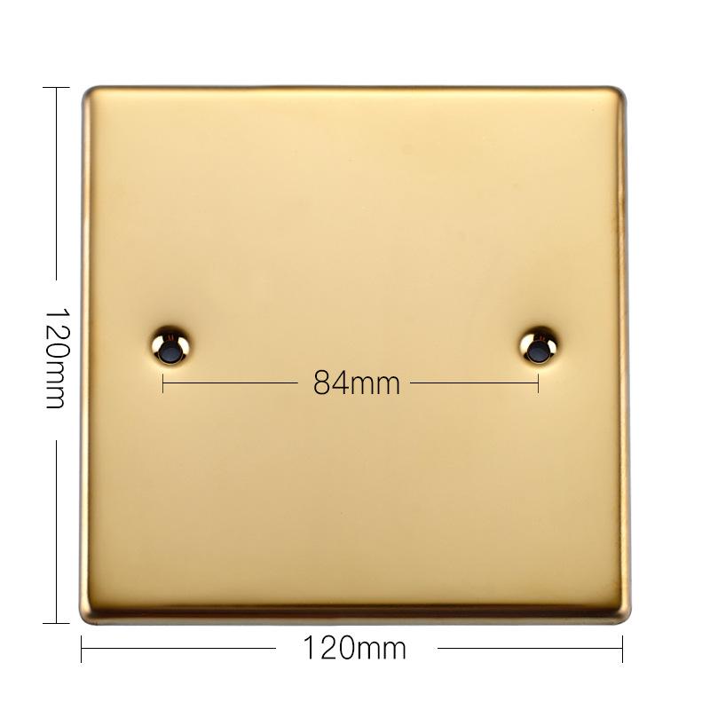 东特电器直销地板插座盖板不锈钢盖板空白面板封板孔距85MM通用