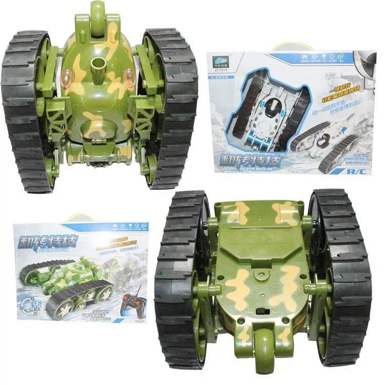 遥控特技坦克双面履带直立充电四通道360度翻转儿童遥控玩具